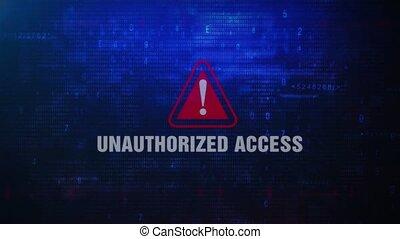 Unauthorized Access Alert Warning Error Message Blinking on...