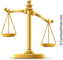 Unbalanced Justice Scale - Isolated justice scale concept...