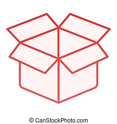 Unboxing flat icon. Package red icons in trendy flat style. Box gradient style design, designed for web and app. Eps 10.
