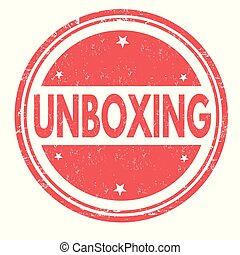 Unboxing grunge rubber stamp