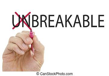 Unbreakbale-Breakable on a virtual screen