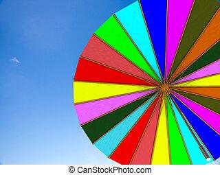 unbrella, med, trevlig, sky