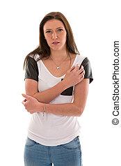 Uncertain and shy woman - Uncertain and shy woman