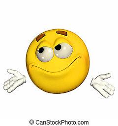 Uncertain Emoticon - Illustration of an uncertain emoticon...