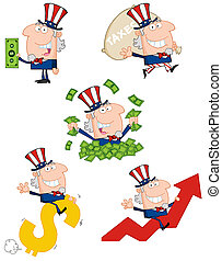 Uncle Sam Cartoon Collection - Uncle Sam Cartoon Characters...