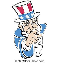 Uncle Sam Clip Art - Uncle Sam clip art