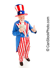 Uncle Sam - Economic Recovery - American icon Uncle Sam ...