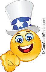 Uncle Sam emoticon I want you