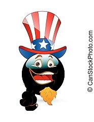 Uncle Sam Happy Smiley
