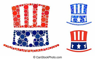 Uncle Sam hat Composition Icon of Circles