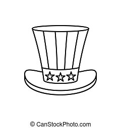 Uncle Sam Hat icon, outline style