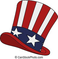 uncle s sam hat pattern isolated on white bakdrop uncle s sam hat
