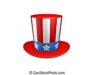 Uncle Sam hat of usa isolated on white background