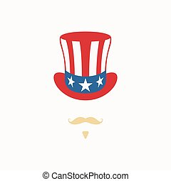 Uncle Sam hat on white background.