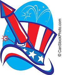 Uncle Sam Hat & Rocket