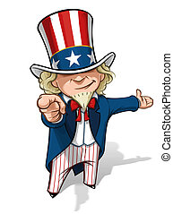 Uncle Sam 'I Want You' Presenting - Clean-cut, overview...