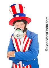 Uncle Sam in Gas Mask