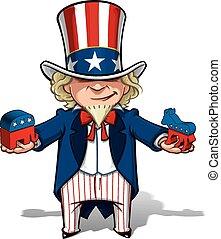 Uncle Sam Republican n Democratic