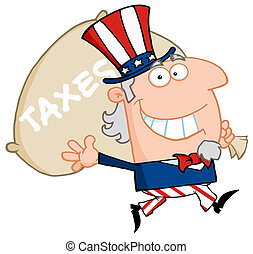 Uncle Sam Runs And Carries A Bag - Uncle Sam Runs And...