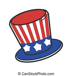 Uncle Sam USA America hat vector symbol travel tourist and American culture