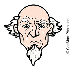 Uncle Sam Vector - Drawing Art of Cartoon Old Uncle Sam...
