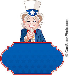 Uncle Sam Wants You! - Sign with Uncle Sam pointing. Perfect...