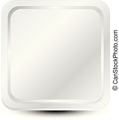 Uncolored square icon backdrop with rounded corners