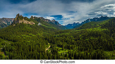 Uncompahgre National Forest near Ouray Bird's eye view