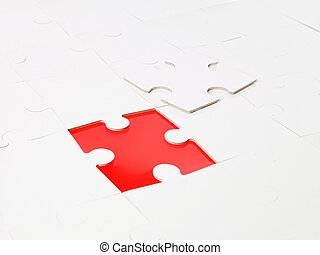 Uncompleted puzzle