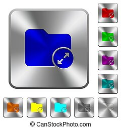Uncompress directory rounded square steel buttons