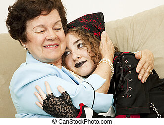 Unconditional Love - Mother and rebellious goth daughter...