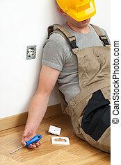 Unconscious electrician