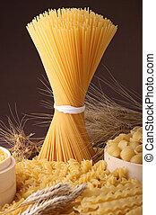 uncooked assorted pasta