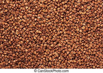 uncooked buckwheat background