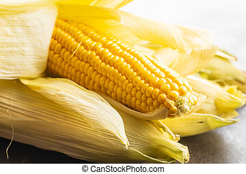 Uncooked corn cob.