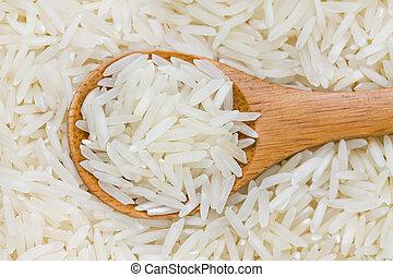 Uncooked long grain rice