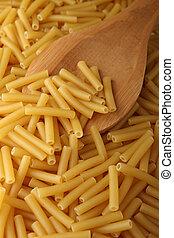 uncooked macaroni pasta