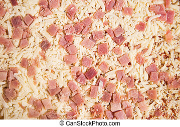 Uncooked pizza full frame