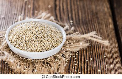 uncooked, quinoa
