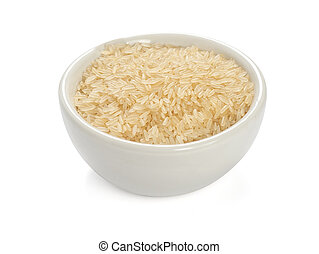 uncooked rice isolated on a white background