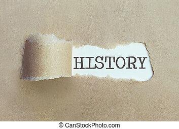 uncovering, concepto, historia