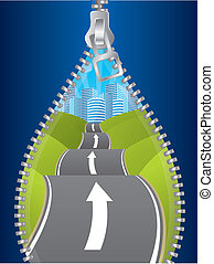 Uncovering the road of possibilities by unzipping