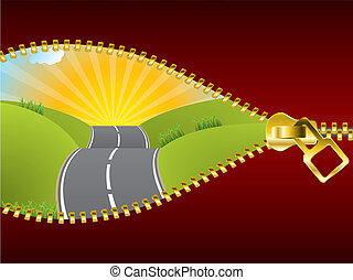 Uncovering the road of possibilities by unzipping the world