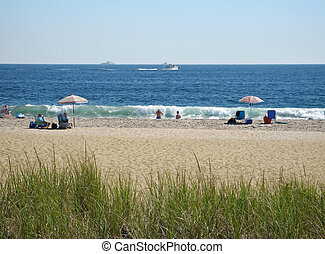 Uncrowded Beach - Some older couples enjoy a quiet day at...