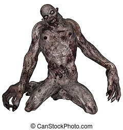 Undead creature - 3D rendered illustration of undead...