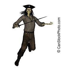 Undead Pirate Skeleton - 2