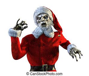 undead, santa, zombie