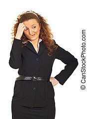 Undecided and thinking business woman - Undecided ,thinking...