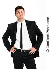 Undecided businessman - A picture of a young handsome...