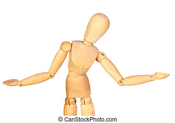 Undecided jointed wooden mannequin